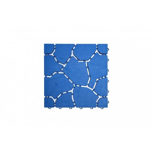 Primo แผ่นกันลื่น PVC ขนาด 30×30 ซม.  (4แผ่น/แพ็ค) Mountain BYF001-BU  สีน้ำเงิน