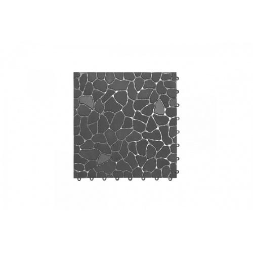 Primo แผ่นกันลื่น PVC ขนาด 28×28 ซม.  (4แผ่น/แพ็ค) Rock Stone BYF003-GY สีเทา