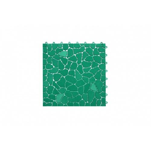 Primo แผ่นกันลื่น PVC ขนาด 28×28 ซม. (4แผ่น/แพ็ค) Rock Stone BYF003-GN  สีเขียว