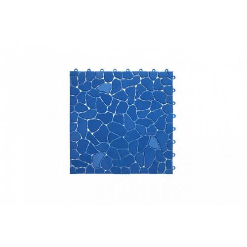 Primo แผ่นกันลื่น PVC ขนาด 28×28 ซม. (4แผ่น/แพ็ค) Rock Stone BYF003-BU  สีน้ำเงิน
