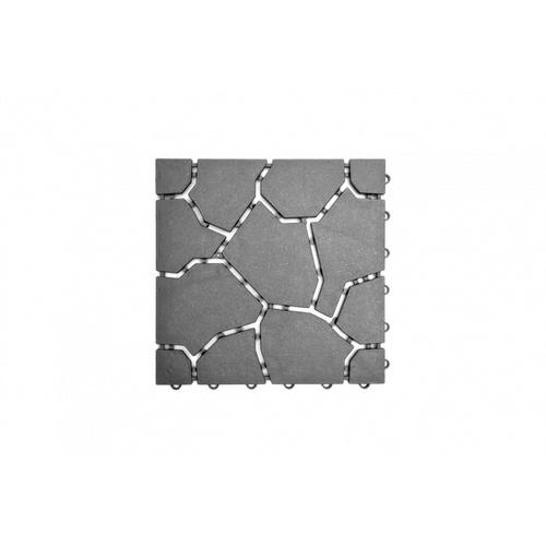 Primo แผ่นกันลื่น PVC  ขนาด 30×30 ซม.  (4แผ่น/แพ็ค) Mountain BYF001-GY ขาว