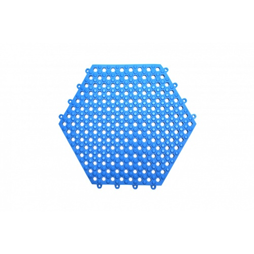 Primo แผ่นกันลื่น PVC  ขนาด 30×30 ซม.  (6แผ่น/แพ็ค) Hexagon BPY029-BU สีน้ำเงิน