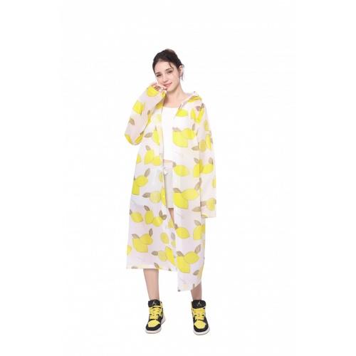 Tree O ชุดกันฝนพลาสติก EVA ไซส์ L  MJ002-YL สีเหลืองพิมพ์ลาย