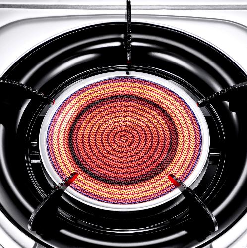 CROWN เตาแก๊สตั้งโต๊ะหน้าสแตนเลส 1 หัวเตาอินฟาเรด CR-022021