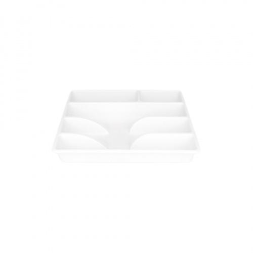 GOME ถาดใส่ช้อนส้อม ขนาด 26x31x4.5ซม.  Pro Kitch06  สีขาว