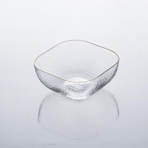 ADAMAS ถ้วยแก้วทรงเหลี่ยมขอบทอง ขนาด  6นิ้ว Jorina-G