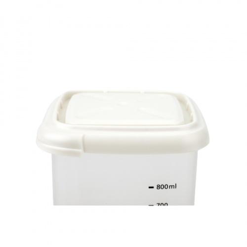 GOME กระปุกพลาสติก 1000ml.  Yokita สีขาว