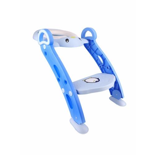 Primo Kids ฝารองนั่งเด็กแบบมีบันไดรูปเพนกวิน 2DCY033 สีฟ้า