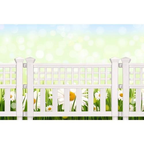 - รั้วสนามพลาสติก  ขนาด 60x52x2.5 SED-007A-WH  สีขาว