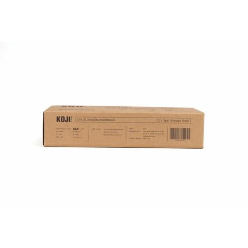 KOJI ชั้นวางพร้อมตะขอติดผนัง ขนาด 12x31.5x8 cm. 2EXC008-GY สีเทา