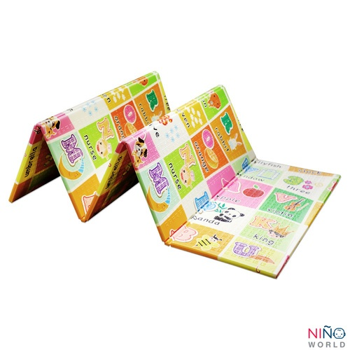 NINO WORLD เสื่อรองคลานพับเก็บได้ ขนาด 175x195x1 cm. รูปตัวอักษร 4TLX008-1