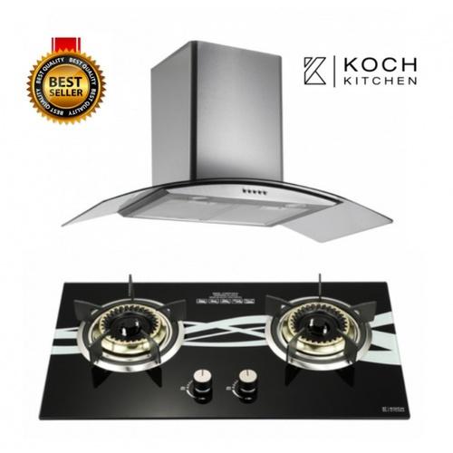 Koch Kitchen ชุดเซ็ทเครื่องดูดควัน +เตาแก๊ส COQUINA1+ Fuerte KH-01