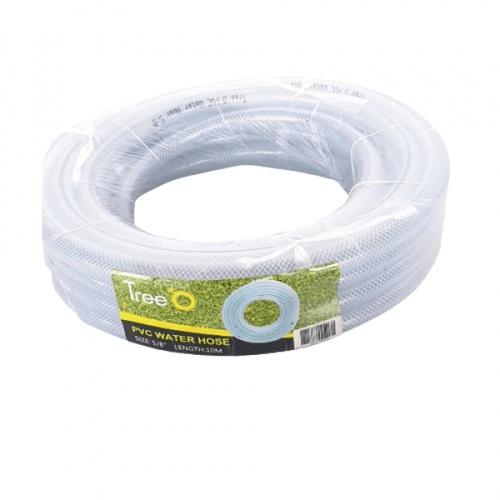 Tree O สายยางม้วน PVC ใยแก้ว 5/8 นิ้ว ยาว 10M  WP-16-21 สีขาว