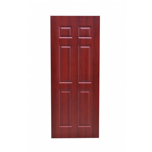 HOLZTUR ประตูปิดผิวเมลามีน 6ฟักตรง ขนาด 80x200cm. สีเรดวอลนัท  MD-K06