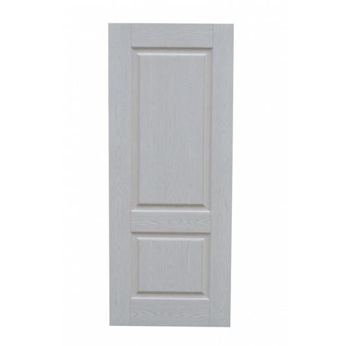HOLZTUR ประตูปิดผิวเมลามีน 2ฟักตรง  80x200cm. สีเงิน  MD-F02