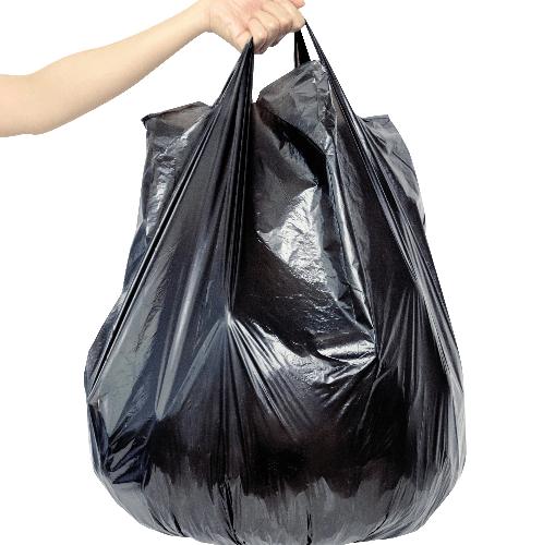 ICLEAN ถุงขยะม้วน มีหู  ขนาด 18x20 นิ้ว บรรจุ 30ใบ/ม้วน Iclean สีดำ