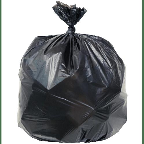 ICLEAN ถุงขยะ มีหู หนาพิเศษ ขนาด 30x40 นิ้ว บราจุ 10 ใบ/แพ็ค DZH004-BK สีดำ