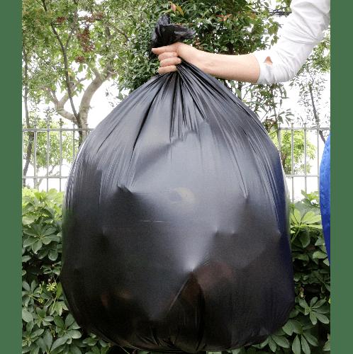 ICLEAN ถุงขยะ มีหู หนาพิเศษ ขนาด 36x45 นิ้ว บรรจุ 7 ใบ/แพ็ค DZH005-BK สีดำ