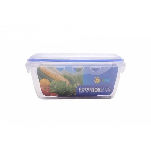 GOME ชุดกล่องถนอมอาหารพลาสติกทรงเหลี่ยม  EYYZ09 800ML/1600ML 2 ชิ้น/แพ็ค  สีน้ำเงิน