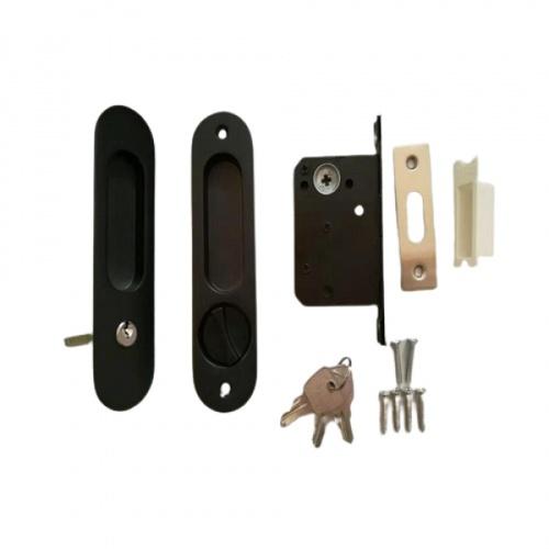 TORSTEN มือจับบานเลื่อนประตูพร้อมอุปกรณ์ PQS-JT85B สีดำ