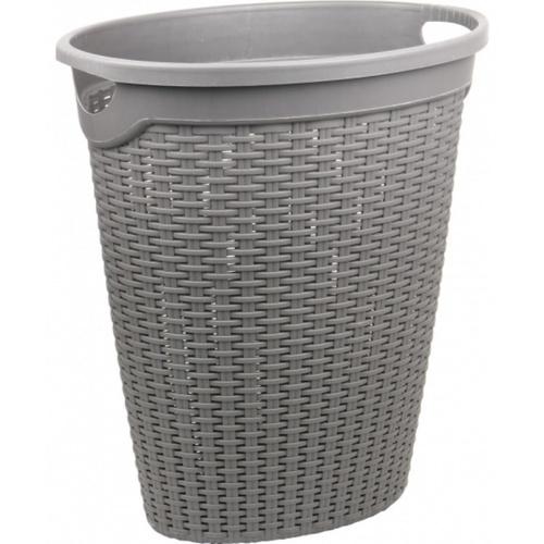 SAKU ตะกร้าผ้าพลาสติกมีหู 50ลิตร ขนาด 51.5x36x57ซม. TG51917 สีเทา