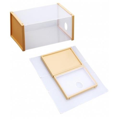 SAKU กล่องรองเท้าฝาหน้า ขนาด 32.5x20.5x13.5ซม. TG54974 สีเบจ