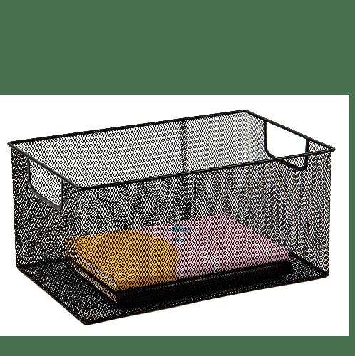 SMITH กล่องเหล็ก ไซส์ M ขนาด 34x22x16.5ซม.  TG59218 สีดำ