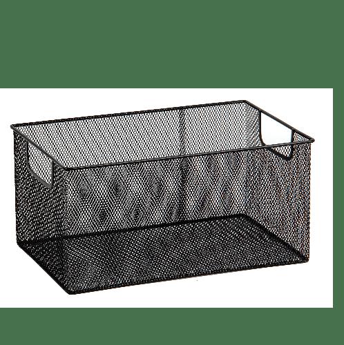 SMITH กล่องเหล็ก ไซส์ L ขนาด 38x24x18ซม. TG59219 สีดำ