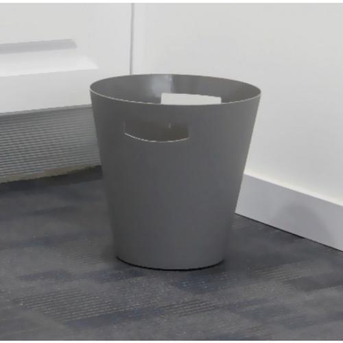 ICLEAN ถังขยะพลาสติกทรงกลม ขนาด 12ลิตร TG54612 สีเทา