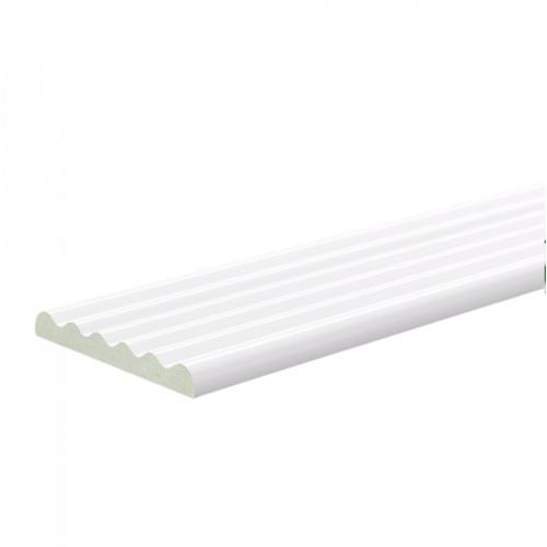 GREAT WOOD ไม้บัว PVC  FCM-0513A 51x0.6x2700mm. WH05