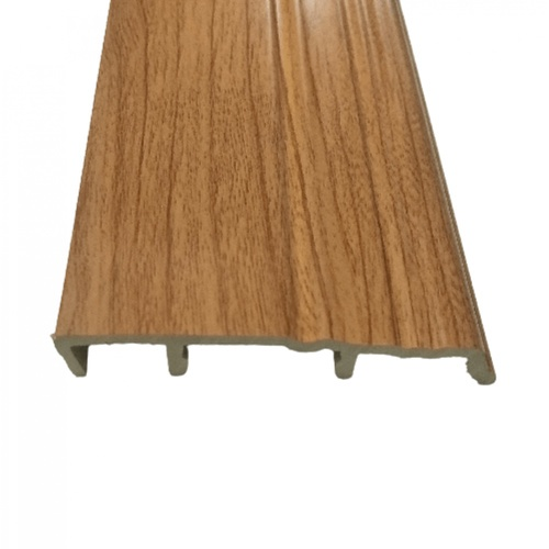 GREAT WOOD ไม้บัวล่าง PVC  FBM-0801A 80x14x2700mm. CH01
