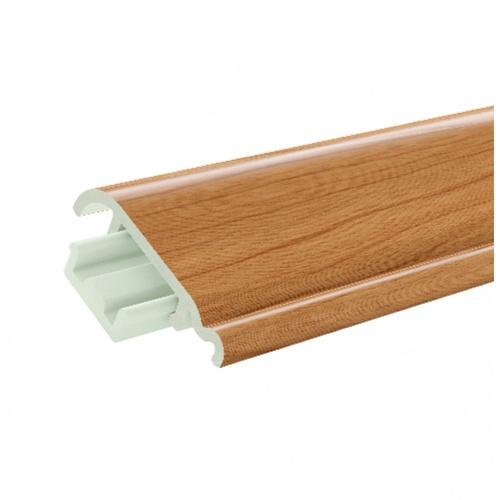 GREAT WOOD ไม้บัวล่าง PVC FBM-0601A 60x16x2700mm. CH01