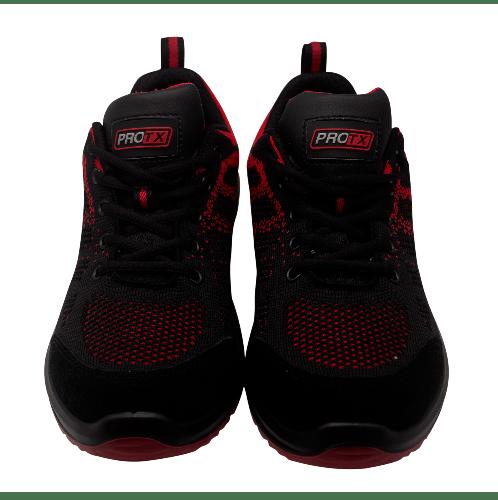 PROTX รองเท้าเซฟตี้ # 43  TSS-PU006-0343 ดำ-แดง