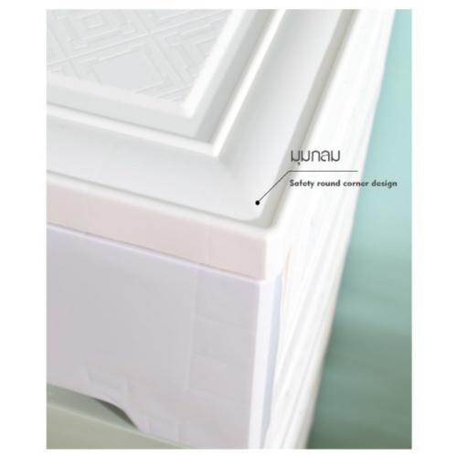 GOME  ตู้ลิ้นชักเก็บของ แบ่งช่อง 3ชั้น ขนาด W34×L57×H63 สีพาสเทล F4813