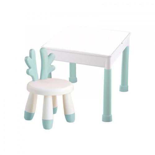 NINO WORLD ชุดโต๊ะเด็ก IMON ขนาด W50×L50×H45 YM05 สีเขียว