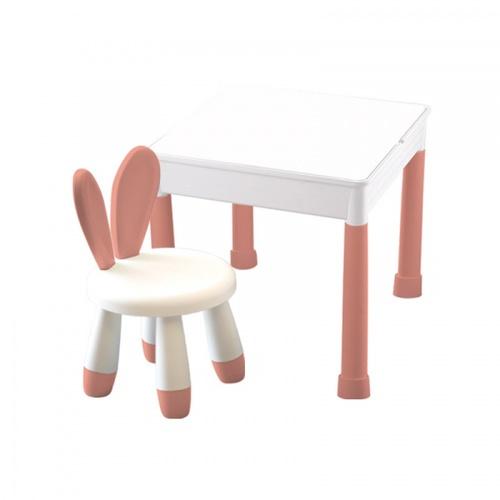 NINO WORLD ชุดโต๊ะเด็ก IMON ขนาด  W50×L50×H45 YM06 สีชมพู