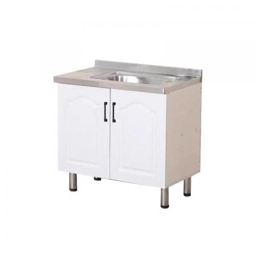 CLOSE ตู้ซิ้งค์หน้าบานปิดผิว ขนาด 80×50×82ซม. KITCHY S-80 สีขาว