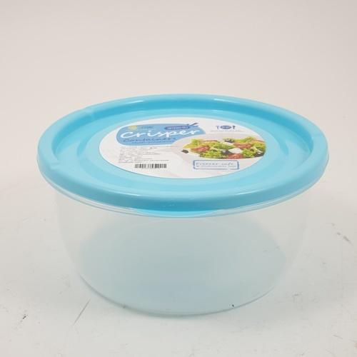 GOME กล่องอาหารพลาสติกทรงกลม  สีฟ้า ขนาด 13.7x13.7x6.5 ซม. SP0022-BU 650ML. สีฟ้า