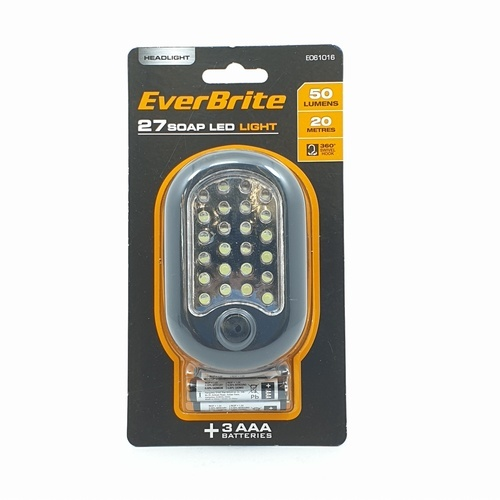 EVERBRITE ไฟฉายแบบพกพาแขวนได้  ขนาด 17x2.1x1.8 cm  สีดำ/ส้ม E061016 สีดำ