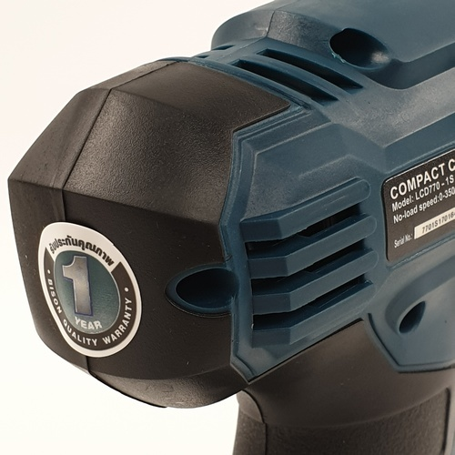 BISON สว่านไฟฟ้าไร้สาย LCD770-1S สีฟ้า