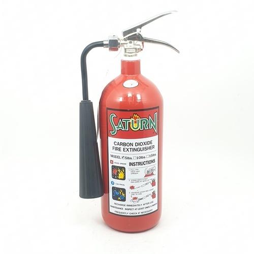 SATURN เครื่องดับเพลิง ชนิด CO2  ขนาด 5LB แดง
