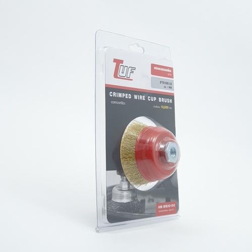 TUF แปรงลวดทองเหลืองรูปถ้วย HM-WB30150 ขนาด 3นิ้วX10X1.5mm. -