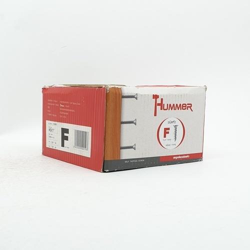 HUMMER สกรูเกลียวปล่อยหัว 6x1นิ้ว (1000ตัว/กล่อง)  F-HM610  สีโครเมี่ยม
