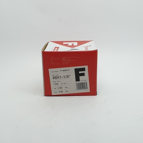 HUMMER สกรูเกลียวปล่อยหัว 8x1-1/4นิ้ว (1000ตัว/กล่อง) F-HM8114 สีโครเมี่ยม