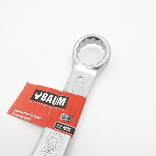 BAUM ประแจแหวนข้างปากตาย  22mm. สีโครเมี่ยม