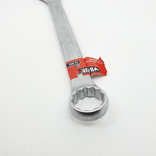 BAUM ประแจแหวนข้างปากตาย 38 mm. Cr-V 38 mm. สีโครเมี่ยม