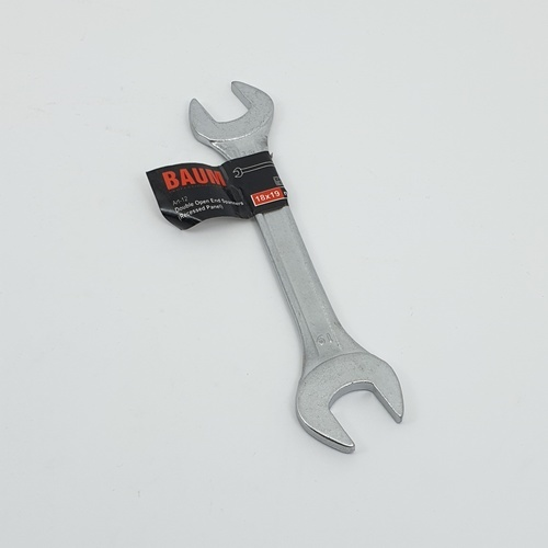 BAUM ประแจปากตาย 18X19mm (Carbon-Steel) สีโครเมี่ยม
