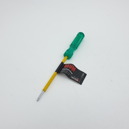 BAUM ไขควงปากแฉก ด้ามเขียว หุ้มฉนวน 100 316AX