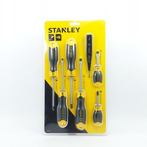 STANLEY ไขควง 6ตัว/ชุด พร้อมไขควงลองไฟ   92-002