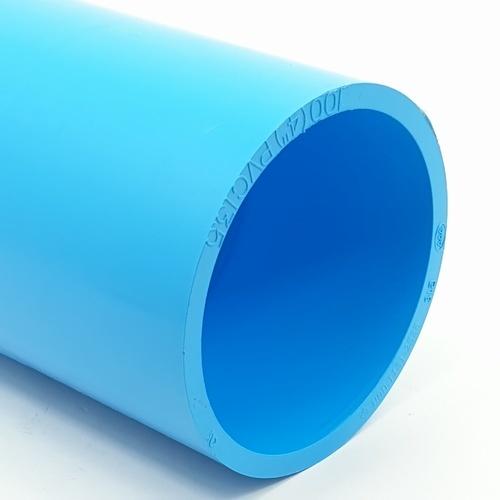 AAA ข้อต่อตรง  หนา 4 นิ้ว (100) ชั้น 13.5  สีฟ้า